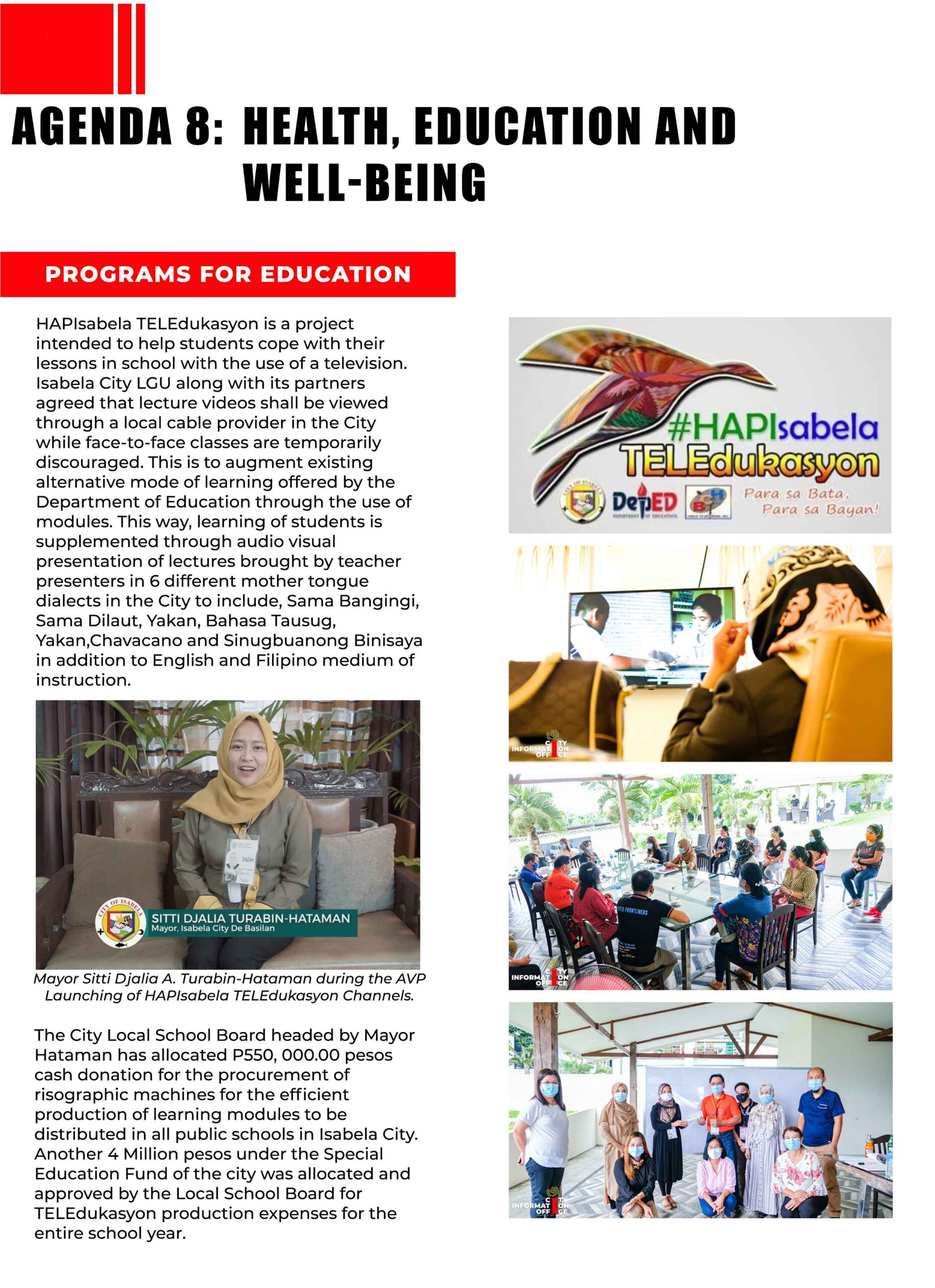 Health, Education and Well-being